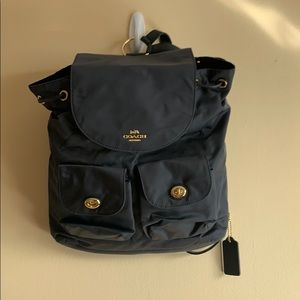 Coach brand new unused turn lock rucksack